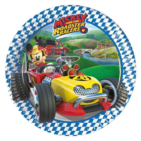 Mickey and the Roadster Racers- aiheinen pieni lautanen